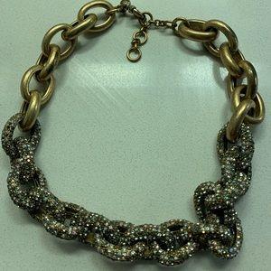 J. Crew Bronze link necklace